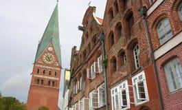 Opinião da cidade de Lueneburg-EU-Alemanha Fotografia de Stock Royalty Free