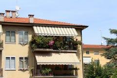 Opinião da cidade de Mantua, Itália Imagens de Stock Royalty Free