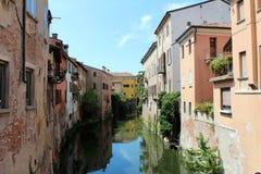 Opinião da cidade de Mantua, Itália Fotos de Stock