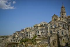 Opinião da cidade de Matera Fotos de Stock