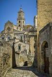 Opinião da cidade de Matera Fotos de Stock Royalty Free