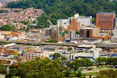 Opinião da cidade de Medellin, Colômbia fotografia de stock