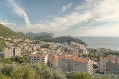 Opinião da cidade de Montenegro Petrovac Fotografia de Stock Royalty Free