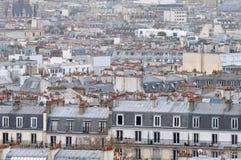 Opinião da cidade de Montmartre Foto de Stock