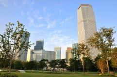 Opinião da cidade de Morden na área do anúncio publicitário de Shanghai Fotografia de Stock