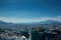 Opinião da cidade de Nha Trang, Vietname Fotografia de Stock