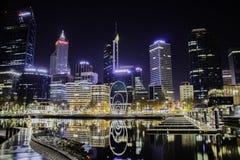Opinião da cidade de Perth de Elizabeth imagem de stock