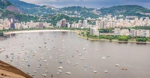 Opinião da cidade de Rio de Janeiro Foto de Stock