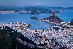 Opinião da cidade de Rio de Janeiro fotografia de stock royalty free