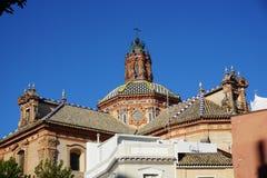 Opinião da cidade de Sevilha foto de stock
