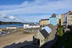 Opinião da cidade de Tenby, Pembrokeshire, Gales Imagem de Stock Royalty Free