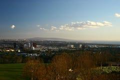 Opinião da cidade de um ponto culminante Imagem de Stock Royalty Free