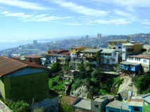 Opinião da cidade de Valparaiso Fotos de Stock Royalty Free