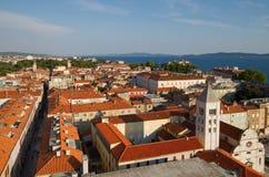 Opinião da cidade de Zadar, Croatia. Foto de Stock Royalty Free