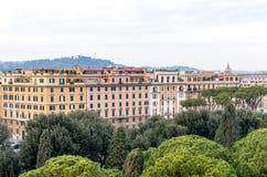 Opinião da cidade do castelo do anjo do St Foto de Stock Royalty Free