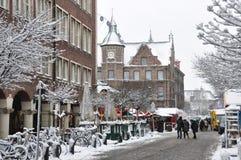 Opinião da cidade do inverno Imagens de Stock