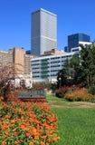 Opinião da cidade do parque Fotografia de Stock Royalty Free