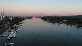 Opinião da cidade do rio Imagem de Stock