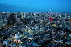 Opinião da cidade do Tóquio Imagens de Stock Royalty Free
