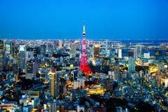Opinião da cidade do Tóquio Imagem de Stock