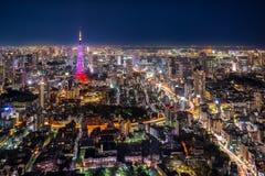 Opinião da cidade do Tóquio Imagens de Stock