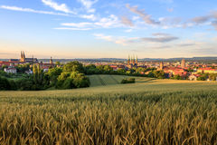 Opinião da cidade do verão de Bamberga Fotografia de Stock Royalty Free
