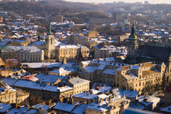 Opinião da cidade - Lviv, Ucrânia Fotografia de Stock
