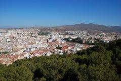 Opinião da cidade, Malaga, a Andaluzia, Espanha. Imagem de Stock