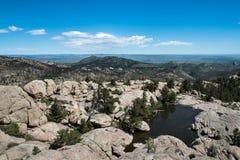 Opinião da cimeira, Greyrock, garganta de Poudre, Colorado Foto de Stock Royalty Free
