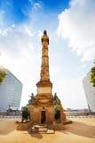 Opinião da coluna do congresso em Bruxelas, Bélgica foto de stock
