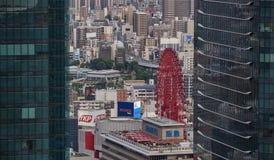 Opinião da construção do céu de Umeda Osaka, Japão 2017 Imagem de Stock Royalty Free