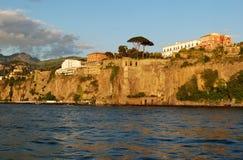 Opinião da costa de Sorrento Fotos de Stock