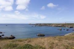 Opinião da costa da ilha de Ouessant Fotos de Stock Royalty Free