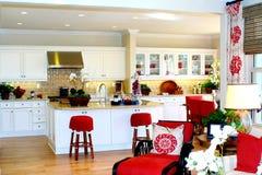 Opinião da cozinha Fotos de Stock Royalty Free