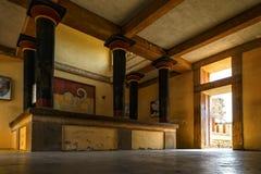 Opinião da Creta de Knossos de Queen' alojamento de s em Royal Palace em Grécia foto de stock royalty free