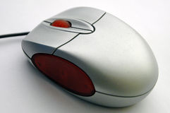 Opinião da diagonal do rato do computador foto de stock
