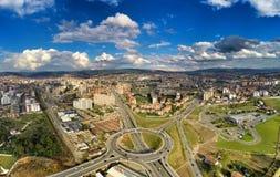 Opinião da entrada de Prishtina imagens de stock