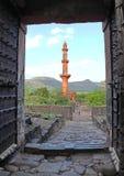 Opinião da entrada do forte de Daulatabad, Aurangabad, Índia Fotos de Stock Royalty Free