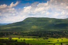 Opinião da estação das chuvas das montanhas do ponto culminante Doi Suthep 2 Imagens de Stock Royalty Free