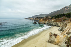 Opinião da estrada da Costa do Pacífico Foto de Stock Royalty Free