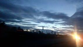 Opinião da estrada do amanhecer Foto de Stock Royalty Free