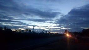 Opinião da estrada do amanhecer Imagem de Stock Royalty Free