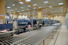 Opinião da fábrica da eletrônica fotografia de stock royalty free