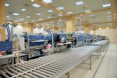 Opinião da fábrica da eletrônica imagem de stock