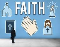 A opinião da fé acredita o conceito da esperança da convicção da confiança imagem de stock royalty free