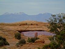 Opinião da garganta do parque nacional de Canyonlands imagem de stock royalty free