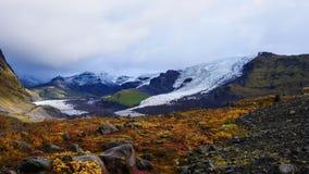 Opinião da geleira de Islândia fotos de stock