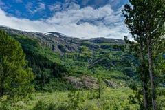 Opinião da geleira de Whittier no Estados Unidos da América de Alaska Foto de Stock Royalty Free