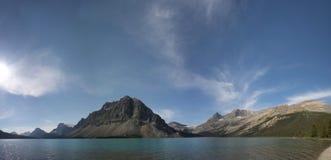 Opinião da geleira do parque de Icefield do lago bow foto de stock royalty free