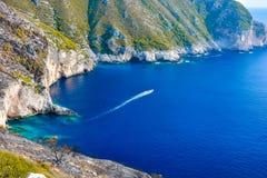 Opinião da ilha de Grécia imagens de stock royalty free
